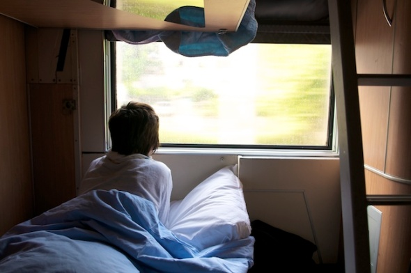 Riding the sleeper car on Eurail, Paris to Rome