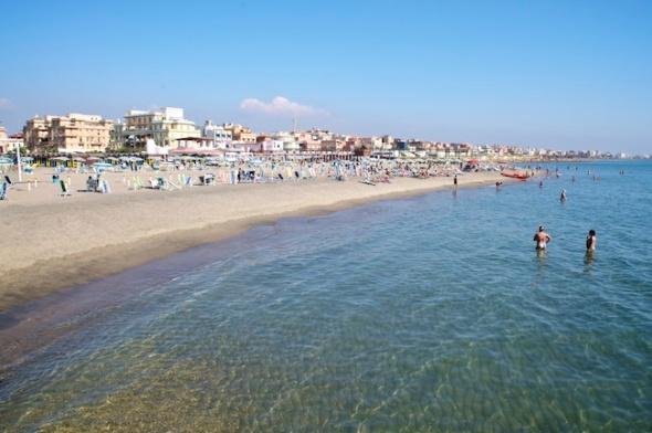 Ostia beach, Mediterranean Sea, Italy
