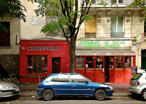 Cobbler's shop and Oriental resaturant, 13 arr., Paris